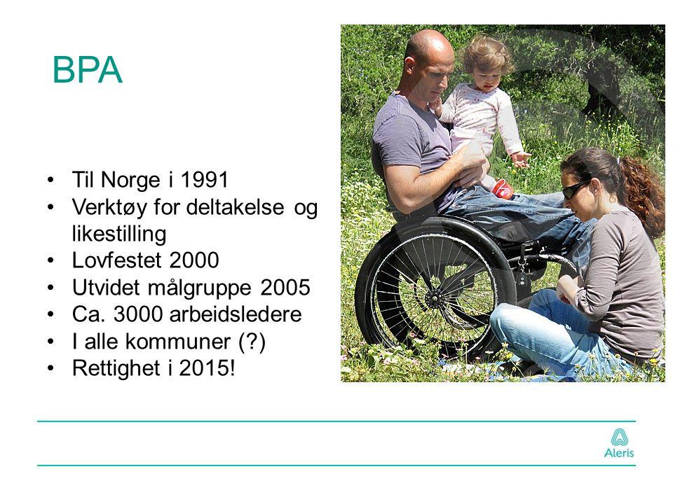 Til Norge i 1991 Verktøy for deltakelse og likestilling Lovfestet 2000 Utvidet målgruppe 2005 Ca. 3000 arbeidsledere I alle kommuner (?) Rettighet i 2