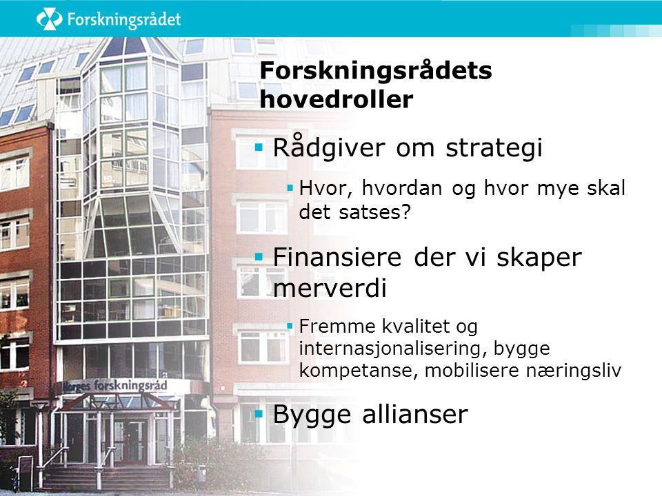 Norges forskningsråd Administrasjon Divisjon for vitenskap Divisjon for innovasjon Divisjon for store satsinger Adm.