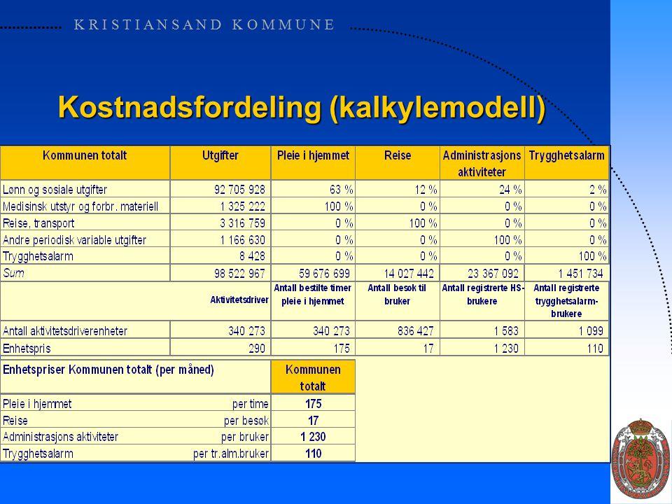 K R I S T I A N S A N D K O M M U N E Månedsrapporten for utfører (finasnieringsmodell)