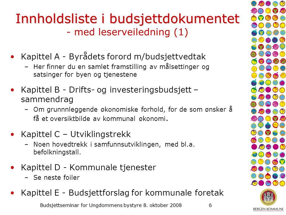 Budsjettseminar for Ungdommens bystyre 8.