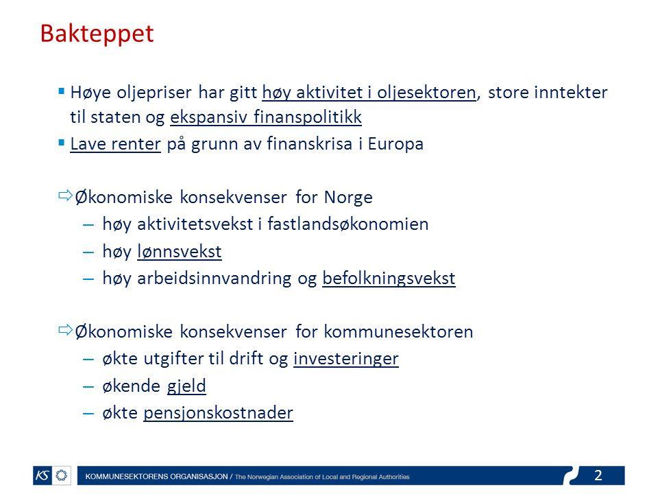 3 Kombinasjonen av høy oljepris og lave renter gjorde Norge til et annerledesland