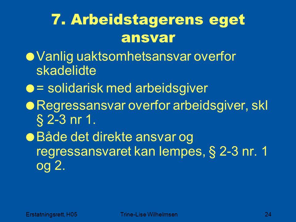 Erstatningsrett, H05Trine-Lise Wilhelmsen24 7.