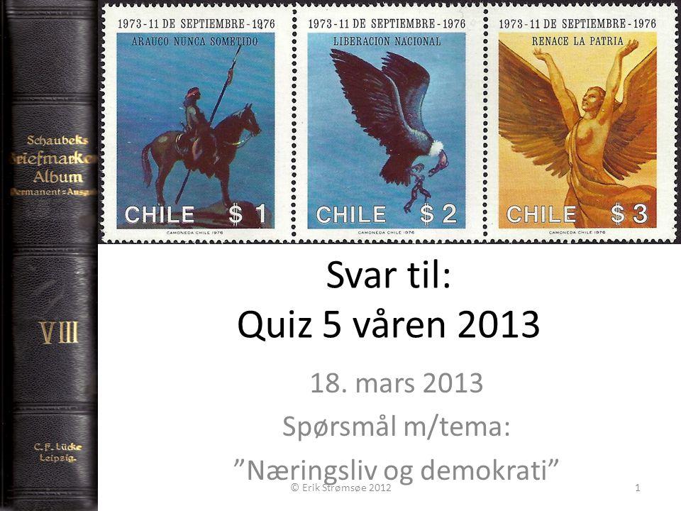Svar til: Quiz 5 våren 2013 18.