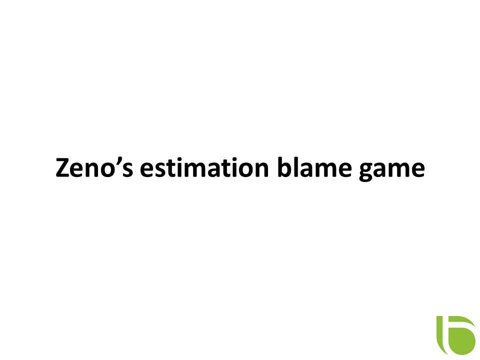 Zeno's estimation blame game