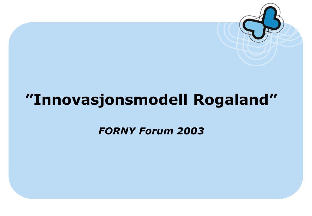 """""""Innovasjonsmodell Rogaland"""" FORNY Forum 2003"""