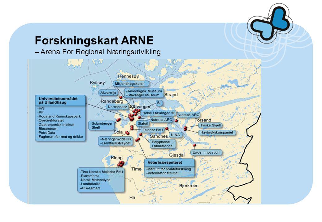 Forskningskart ARNE – Arena For Regional Næringsutvikling