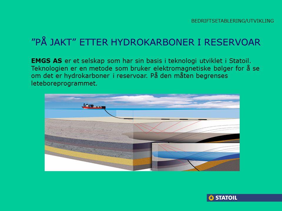 CARBOLINE LAMBDA JACKET HPAP BEDRIFTSETABLERING/UTVIKLING PÅ JAKT ETTER HYDROKARBONER I RESERVOAR EMGS AS er et selskap som har sin basis i teknologi utviklet i Statoil.