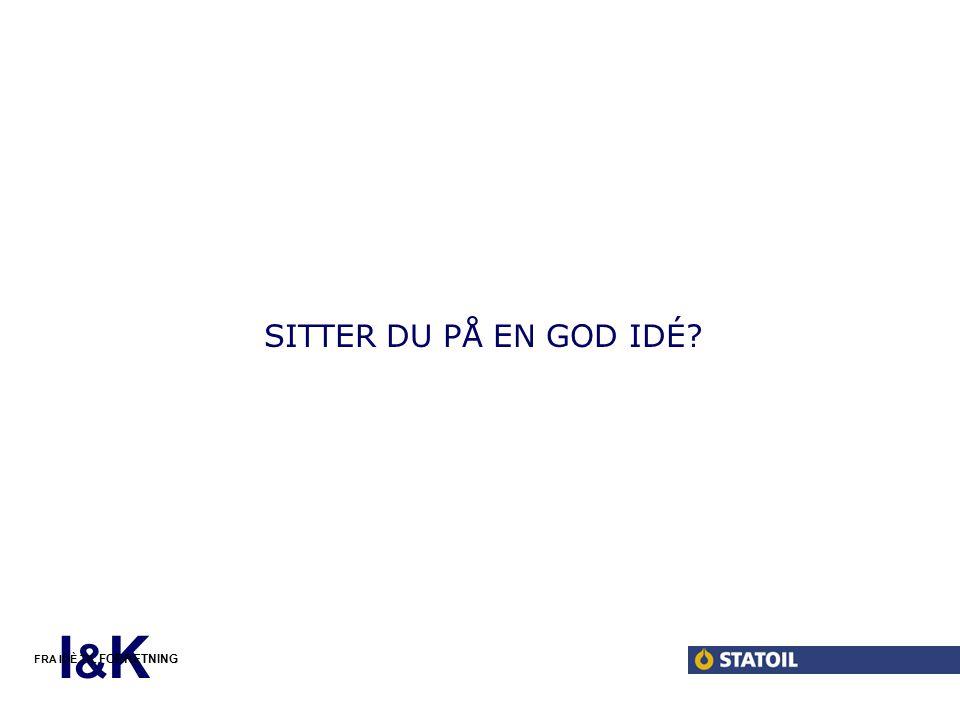 I&KI&K FRA IDÈ TIL FORRETNING SITTER DU PÅ EN GOD IDÉ