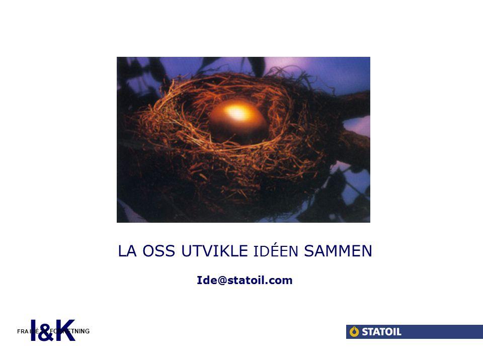 Sitter du på en god idé Her kommer litt tekst om idéproduksjon internt i Statoil.