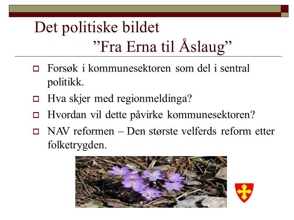 Det politiske bildet Fra Erna til Åslaug  Forsøk i kommunesektoren som del i sentral politikk.