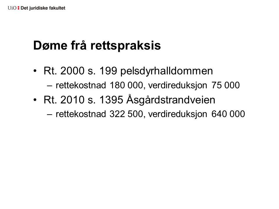 Døme frå rettspraksis Rt. 2000 s.