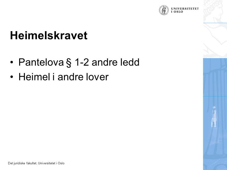 Det juridiske fakultet, Universitetet i Oslo Eksempel 4 Ikkje omfatta etter pantelova § 2-2 Godtruerverv?