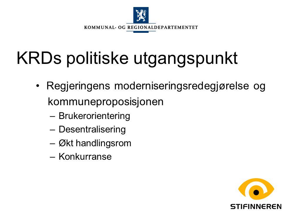 KRDs arbeid med modernisering skjer langs to hovedlinjer: Bidra til gode rammevilkår og økt kommunalt handlingsrom som stimulerer til nytenking, omstilling og utvikling i kommunesektoren