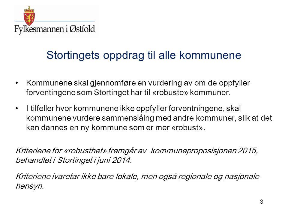 Kommunereformen – status i Østfold Nesten alle kommunene er nå godt informert om reformen, og utredningsoppdraget fra Stortinget/Regjeringen.