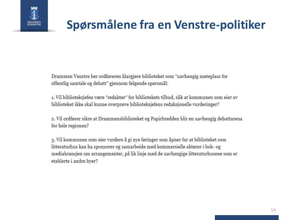 Spørsmålene fra en Venstre-politiker 14
