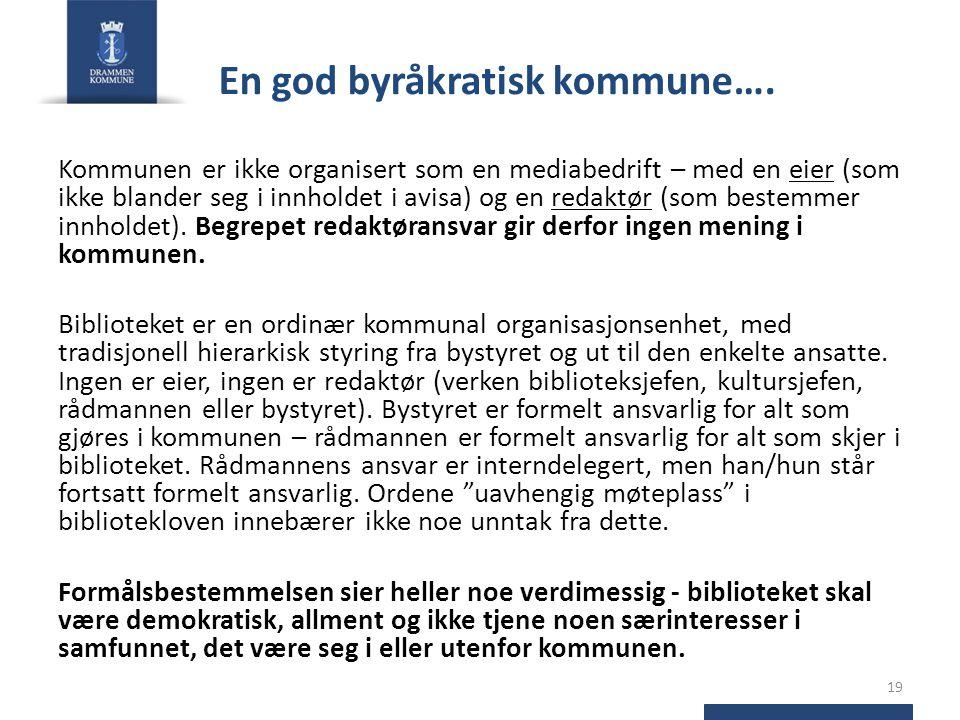 En god byråkratisk kommune….