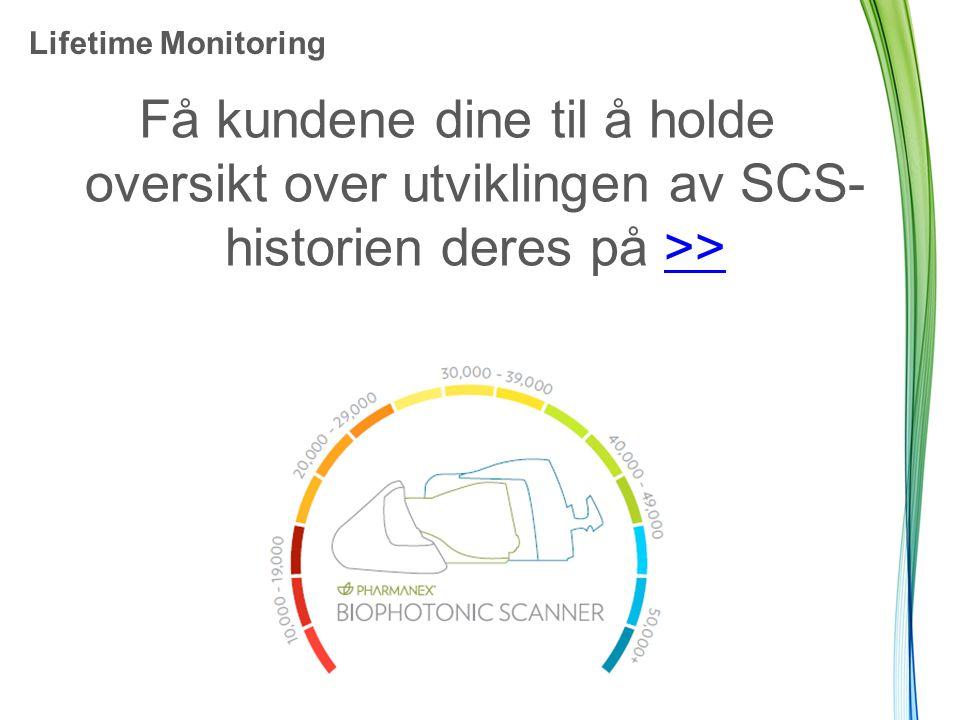 Lifetime Monitoring Få kundene dine til å holde oversikt over utviklingen av SCS- historien deres på >>>>