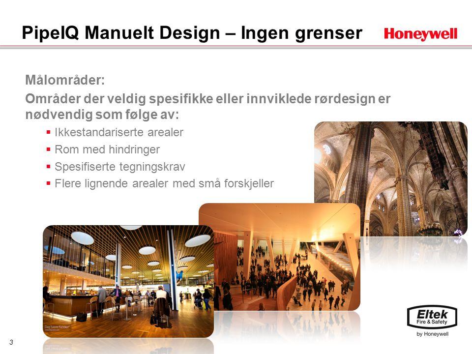 4 PipeIQ Manuelt Design Med Pipe IQ 3D Manual Pipe Design kan du:  Designe de fleste innviklede røropplegg  Produsere EN54-kompatible design  Produsere komplett design-, ytelses- og samsvarsrapporter