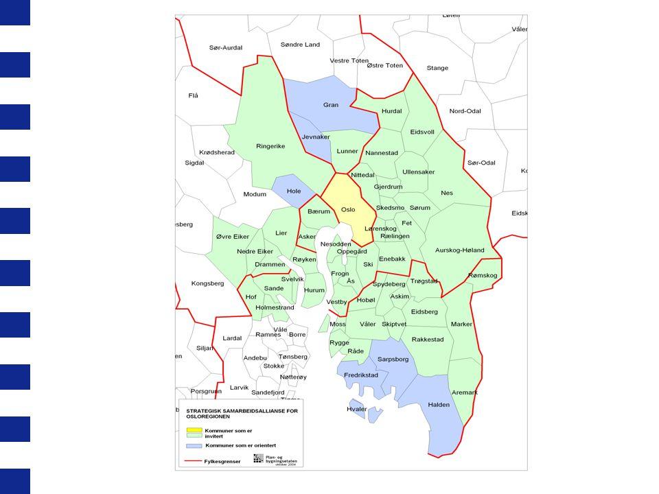 Uavklarte spørsmål: Kan Osloregionen danne basis for regional løsning i regionen.