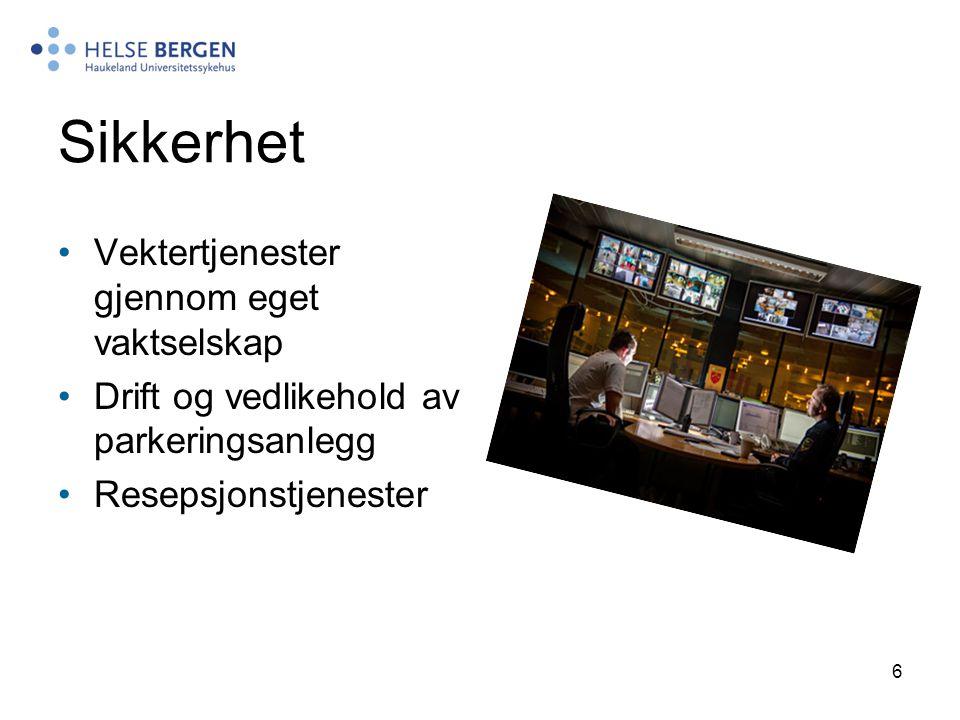 7 Sentralforsyning Betjener Helse Bergens hovedlager av standardiserte forbruksvarer.