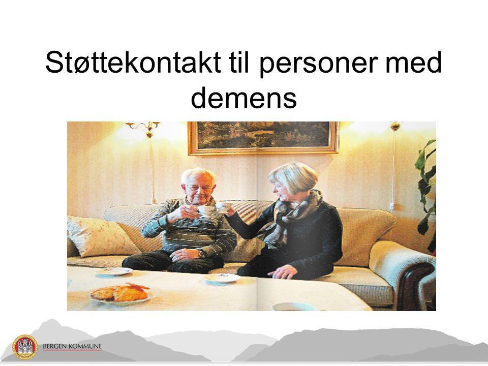Støttekontakt til personer med demens