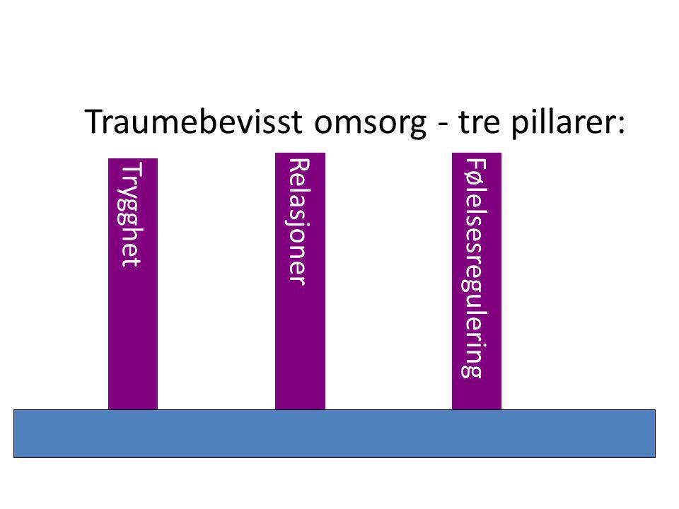 Traumebevisst omsorg - tre pillarer: Trygghet RelasjonerFølelsesregulering