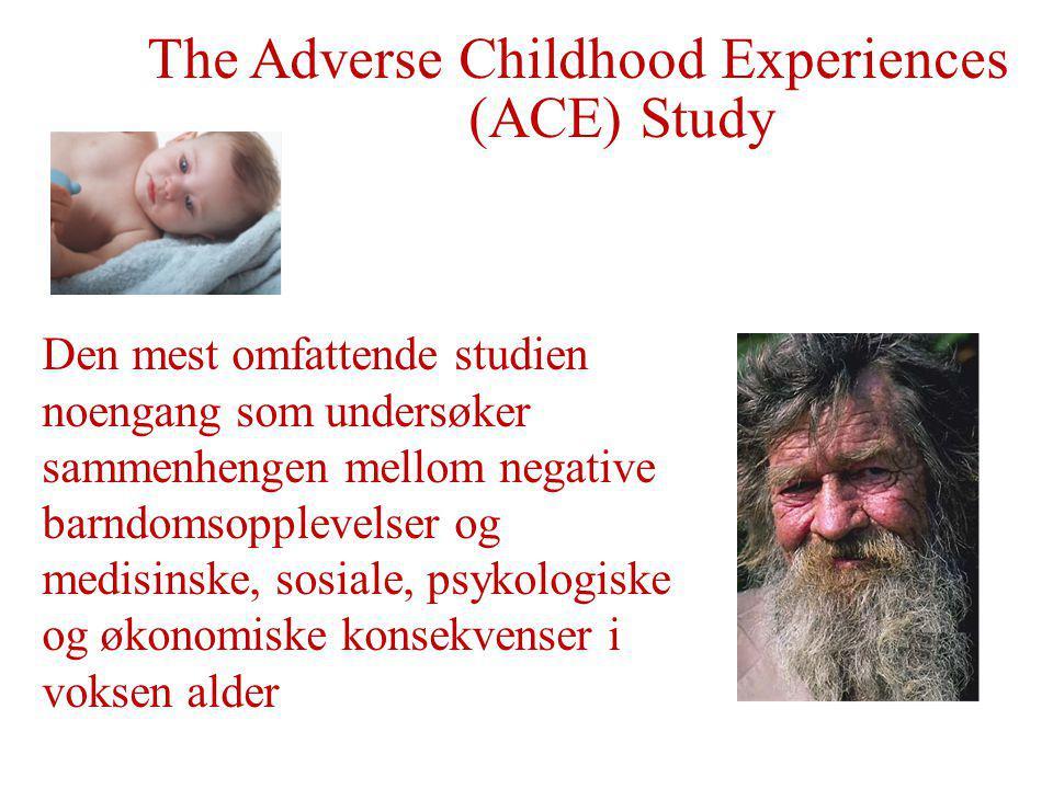 Den mest omfattende studien noengang som undersøker sammenhengen mellom negative barndomsopplevelser og medisinske, sosiale, psykologiske og økonomiske konsekvenser i voksen alder.