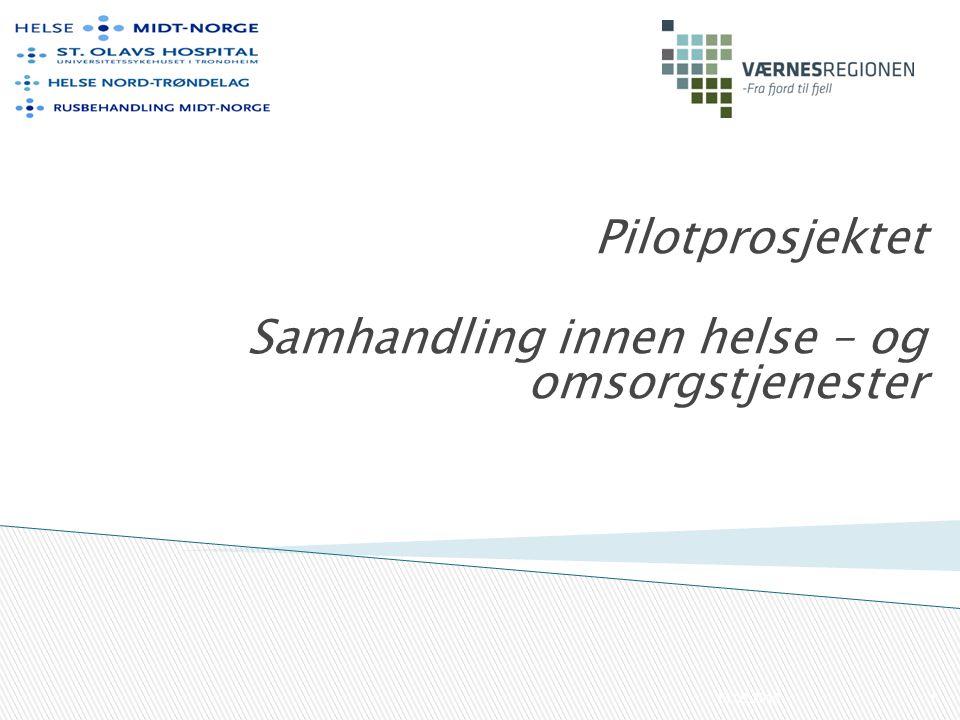 Pilotprosjektet Samhandling innen helse – og omsorgstjenester 13.09.20101