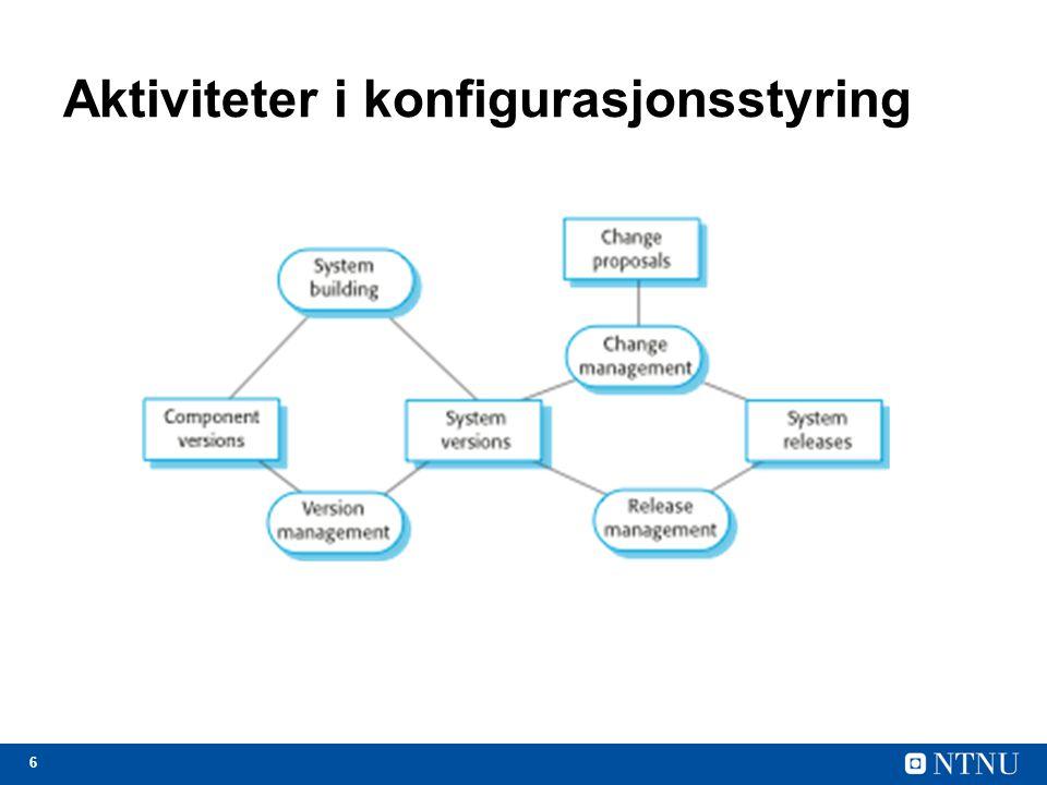 6 Aktiviteter i konfigurasjonsstyring