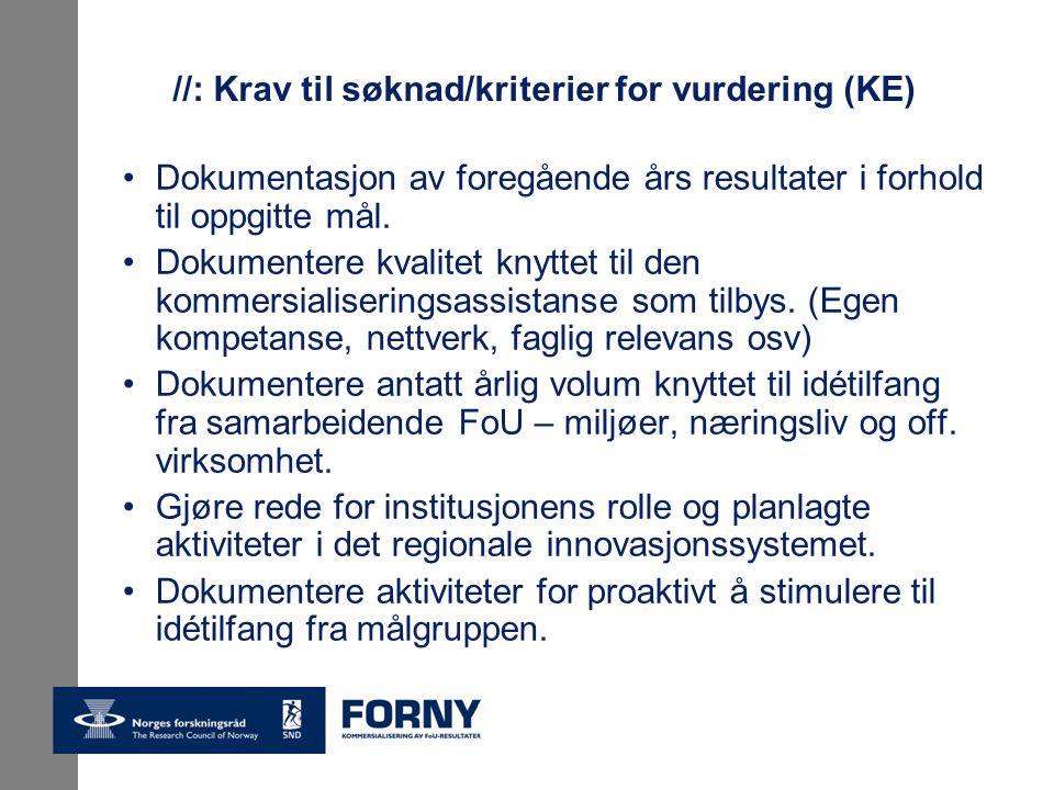 //: Krav til søknad/kriterier for vurdering (KE) Dokumentasjon av foregående års resultater i forhold til oppgitte mål.