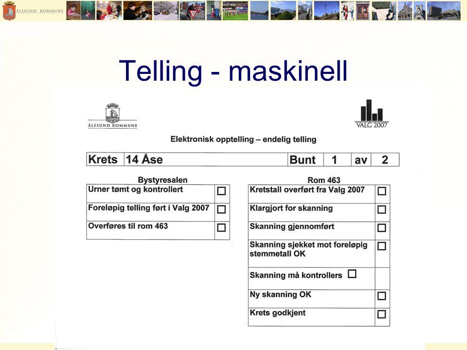Telling - maskinell