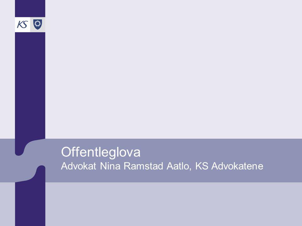 Offentleglova Advokat Nina Ramstad Aatlo, KS Advokatene