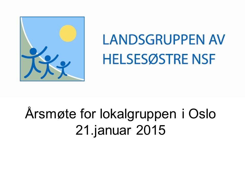 Årsmøte for lokalgruppen i Oslo 21.januar 2015