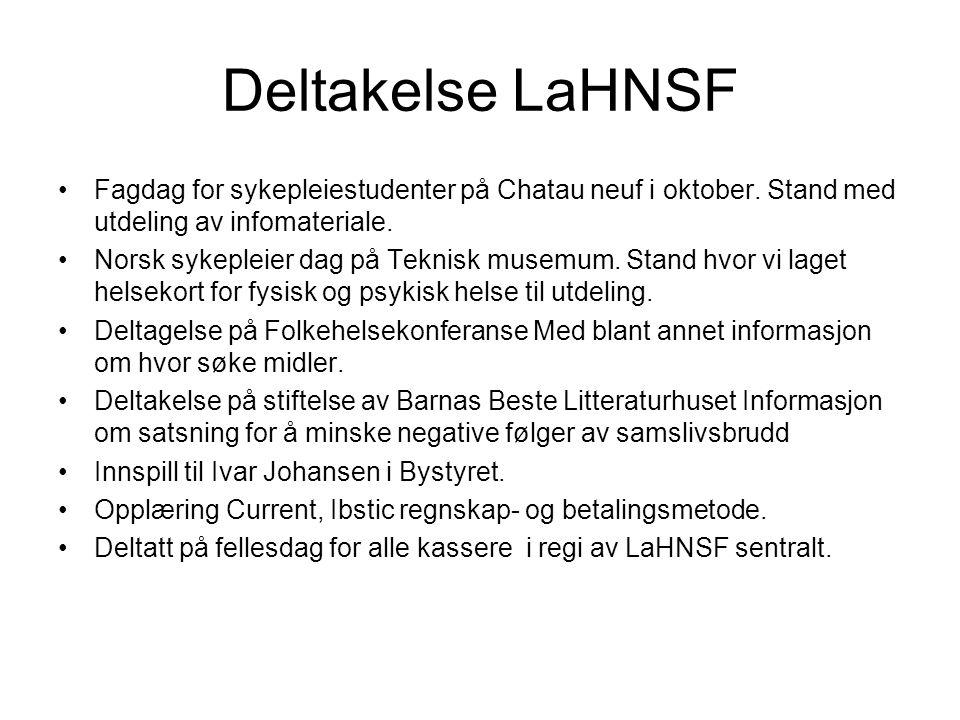 Deltakelse LaHNSF Fagdag for sykepleiestudenter på Chatau neuf i oktober.