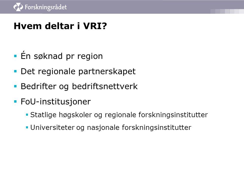 Hvem deltar i VRI.
