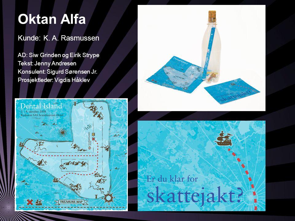 Oktan Alfa AD: Siw Grinden og Eirik Strype Tekst: Jenny Andresen Konsulent: Sigurd Sørensen Jr.