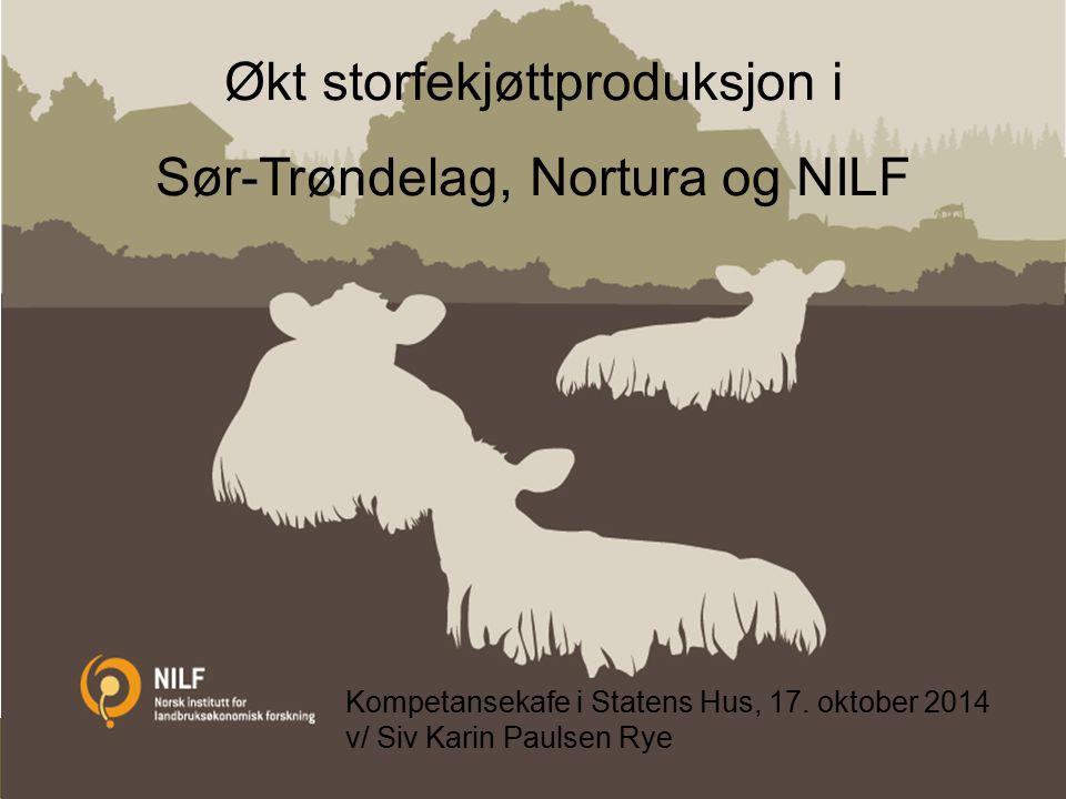 Landbrukets økonomiske betydning i Trøndelag Innlegg på seminar Steinkjer 16.