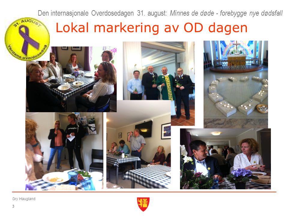 Lokal markering av OD dagen Den internasjonale Overdosedagen 31.