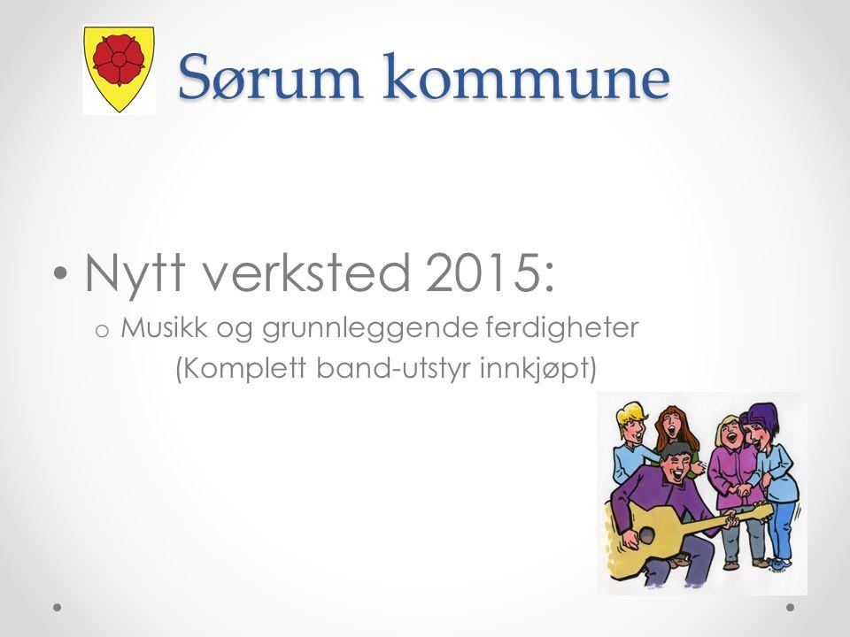 Nytt verksted 2015: o Musikk og grunnleggende ferdigheter (Komplett band-utstyr innkjøpt) Sørum kommune
