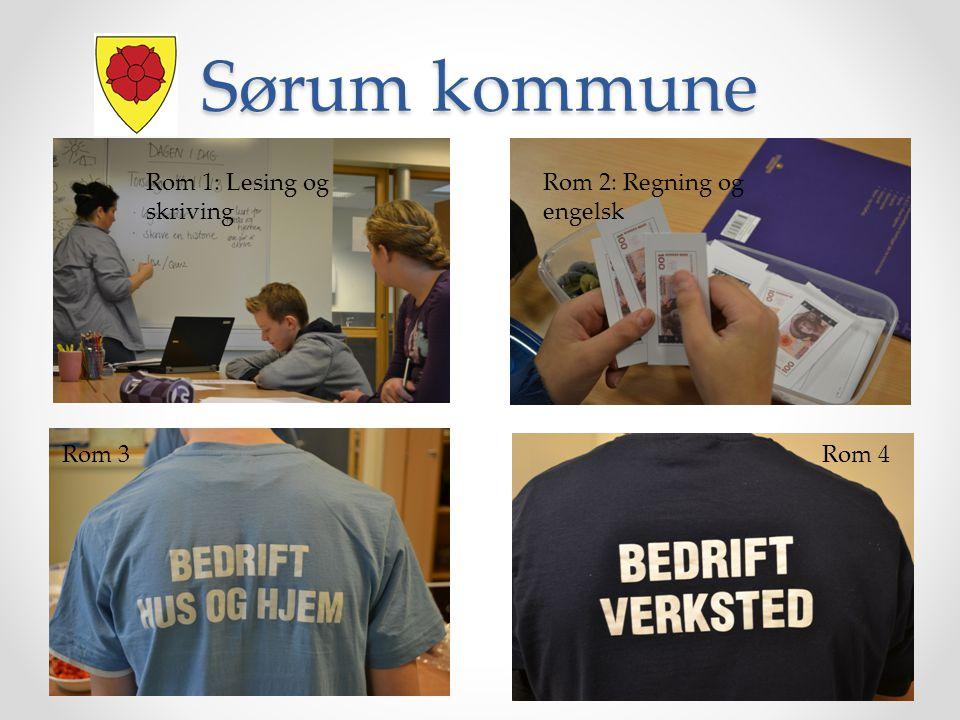 Rom 1: Lesing og skriving Rom 2: Regning og engelsk Rom 3 Rom 4 Sørum kommune