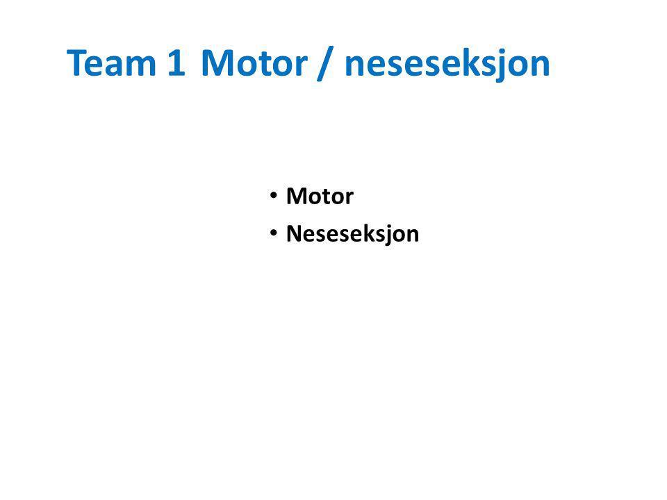 Team 1Motor / neseseksjon Motor Neseseksjon