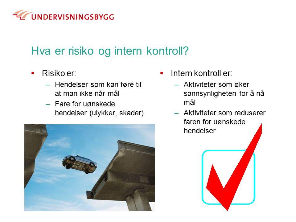 Hva er risiko og intern kontroll.