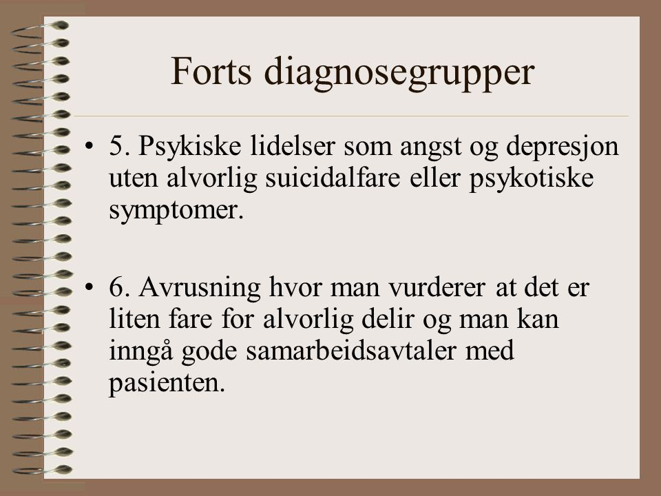 Forts diagnosegrupper 5.