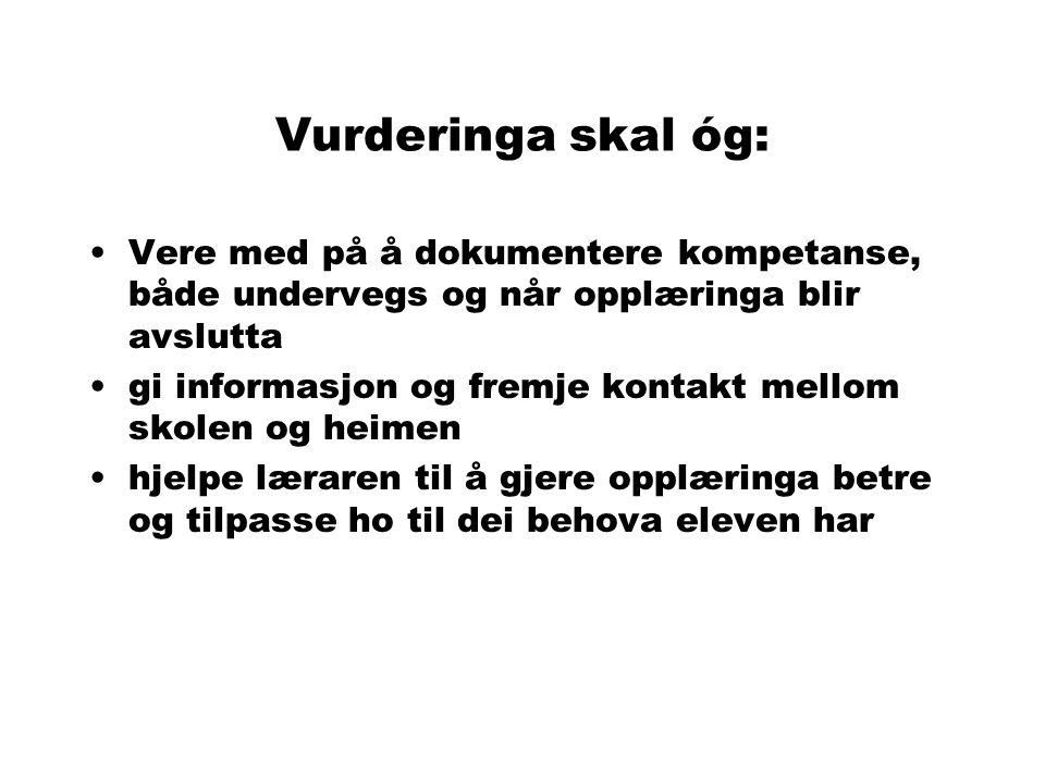 Grunnlagsdokumenter L97 St meld nr 47 (1995-96) Innst S nr 96 (1996-97) Veiledning fra KUF (1998) Opplæringslova (1998) Forskrift til opplæringslova (1999) - Kap.
