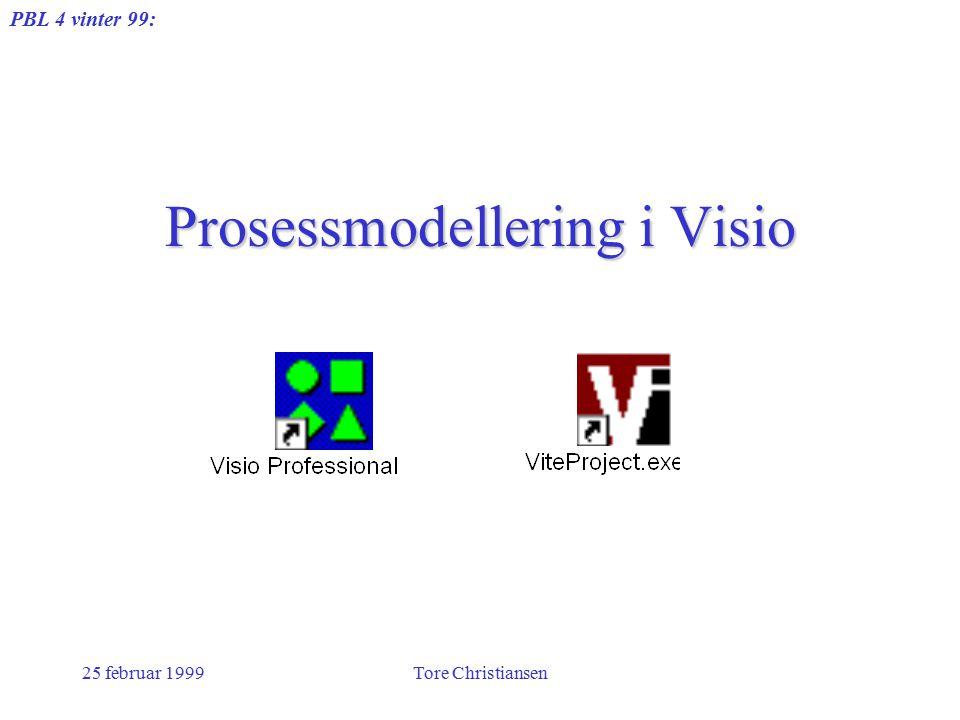 PBL 4 vinter 99: 25 februar 1999Tore Christiansen Prosessmodellering i Visio