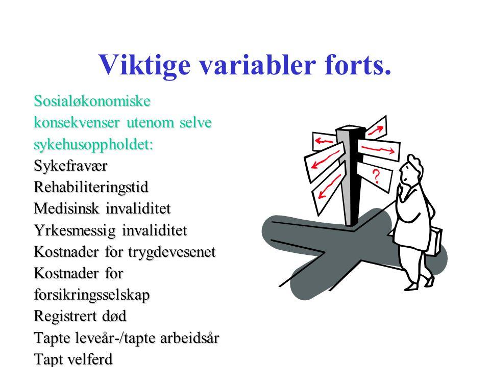 Viktige variabler forts.