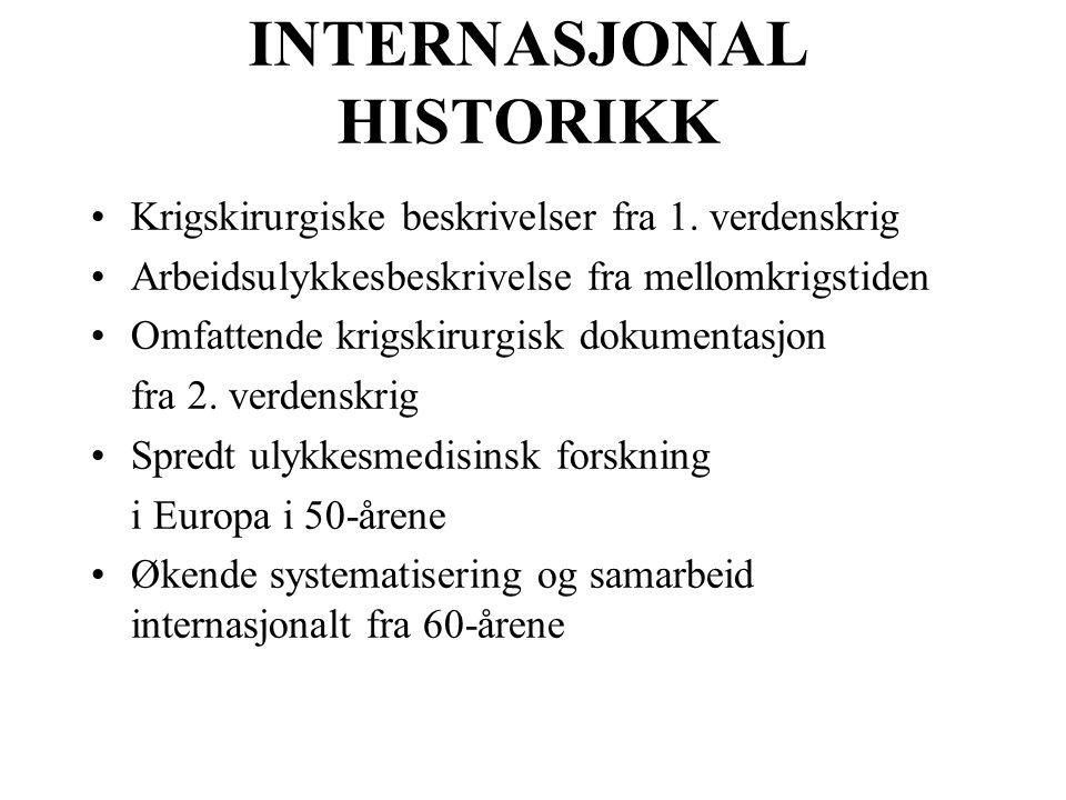 INTERNASJONAL HISTORIKK Krigskirurgiske beskrivelser fra 1.