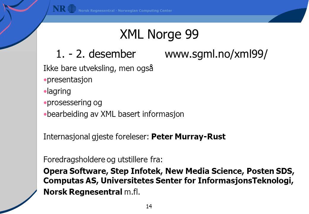 14 XML Norge 99 1.- 2.
