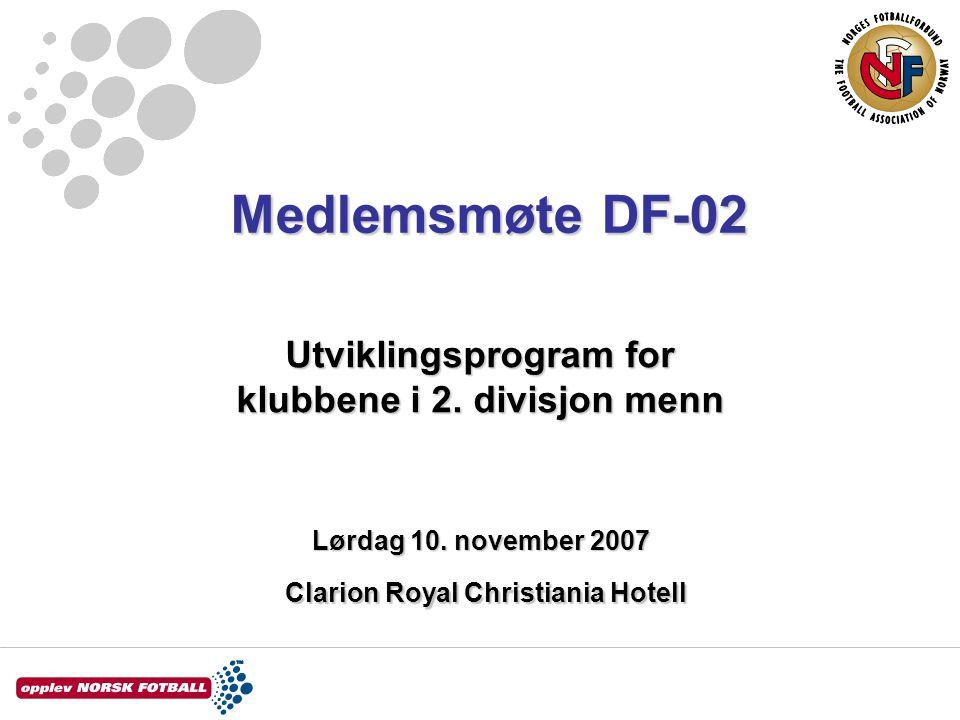 Medlemsmøte DF-02 Lørdag 10.