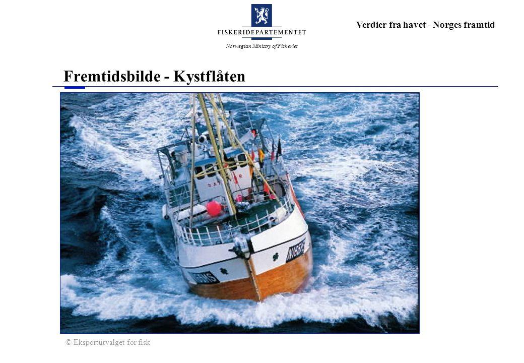 Norwegian Ministry of Fisheries Verdier fra havet - Norges framtid Fremtidsbilde - Kystflåten © Eksportutvalget for fisk